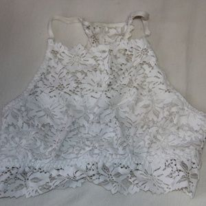 While High neck Lace Aerie Bralette